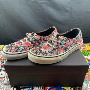 Vans Vintage Floral Sneakers Size 7 Womens